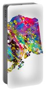 Map Of Alaska-colorful Portable Battery Charger