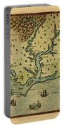 Map Of America 1590 Portable Battery Charger