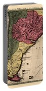 Map Of Argentina 1700 Portable Battery Charger