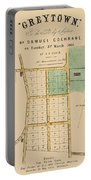 Map Of Auckland 1863b Portable Battery Charger