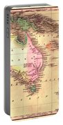 Map Of Australia 1828 Portable Battery Charger