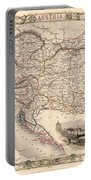 Map Of Austria 1850 Portable Battery Charger