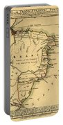 Map Of Brazil 1808 Portable Battery Charger