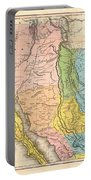 Map Of California New Mexico Texas  1849 Portable Battery Charger