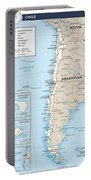 Map Of Chile Portable Battery Charger