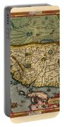 Map Of China 1590 Portable Battery Charger