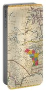 Map Of Colonial North America  Portable Battery Charger