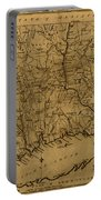 Map Of Connecticut 1797 Portable Battery Charger