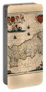 Map Of Cornwall 1646 Portable Battery Charger