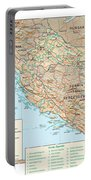 Map Of Croatia 2 Portable Battery Charger