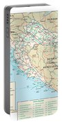Map Of Croatia Portable Battery Charger