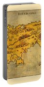 Map Of Cyprus 1562 Portable Battery Charger
