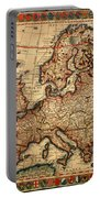 Map Of Europe 1700 Portable Battery Charger