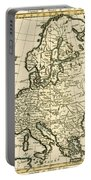 Map Of Europe Portable Battery Charger by Guillaume Raynal