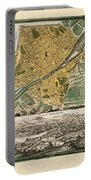 Map Of Florence 1731 Portable Battery Charger