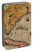 Map Of Florida 1591 Portable Battery Charger