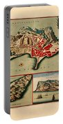 Map Of Gibraltar 1706 Portable Battery Charger