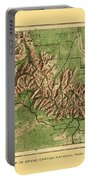 Map Of Grand Canyon 1926 Portable Battery Charger
