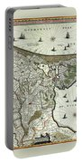 Map Of Holland 1682 Portable Battery Charger