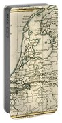 Map Of Holland Including The Seven United Provinces Of The Low Countries Portable Battery Charger