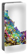 Map Of Idaho-colorful Portable Battery Charger