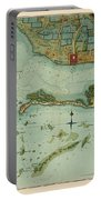 Map Of Jamaica 1756 Portable Battery Charger