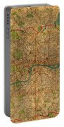 Map Of London England United Kingdom Vintage Street Map Schematic Circa 1899 On Old Worn Parchment  Portable Battery Charger