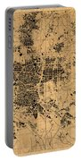 Map Of Madrid Spain Vintage Street Map Schematic Circa 1943 On Old Worn Parchment  Portable Battery Charger