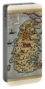 Map Of Malta 1565 Portable Battery Charger