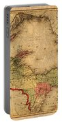Map Of Michigan Upper Peninsula And Lake Superior Vintage Circa 1873 On Worn Distressed Canvas  Portable Battery Charger