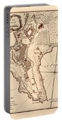 Map Of Monaco 1764 Portable Battery Charger