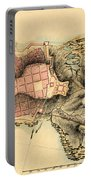 Map Of Montevideo 1808 Portable Battery Charger