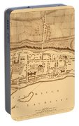 Map Of Montreal 1758 Portable Battery Charger