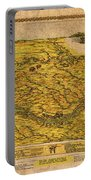 Map Of Nebraska 1954 Omaha Cornhusker State Aerial View Illustration Cartography On Worn Canvas Portable Battery Charger