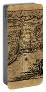 Map Of New York 1600 Portable Battery Charger