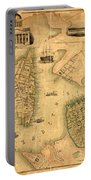Map Of Norfolk 1851 Portable Battery Charger