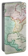 Map Of North America Portable Battery Charger by English School