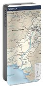 Map Of Pakistan Portable Battery Charger