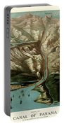 Map Of Panama Canal 1881 Portable Battery Charger
