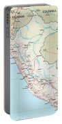 Map Of Peru 2 Portable Battery Charger