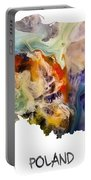 Map Of Poland Original Art Portable Battery Charger