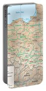 Map Of Poland Portable Battery Charger