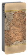 Map Of Rheims 1636 Portable Battery Charger