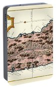 Map Of Saint Lucia 1758 Portable Battery Charger
