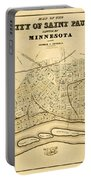Map Of Saint Paul 1852 Portable Battery Charger