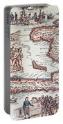 Map Of The Island Of Haiti Portable Battery Charger