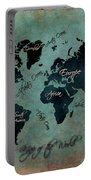 Map Of The World Portable Battery Charger
