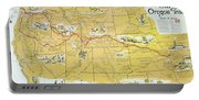 Map Of The Old Oregon Trail Portable Battery Charger