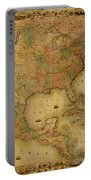 Map Of The United States 1849 Portable Battery Charger