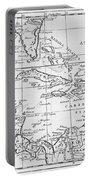 Map Of The West Indies Florida And South America Portable Battery Charger by English School